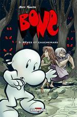 Bone – Edition couleur, T3 : Rêves et cauchemars (0), comics chez Delcourt de Smith, Hamaker