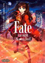 Fate stay night [Heaven's feel] T3, manga chez Ototo de Type-moon, Taskohna