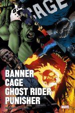 Banner Cage Ghost Rider Punisher, comics chez Panini Comics de Ennis, Azzarello, Way, Corben, Loughridge, Villarubia, Studio F