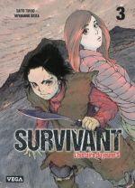 Survivant - l'histoire du jeune S T3, manga chez Vega de Saïto, Miyagawa