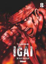 Igai - The play dead/alive T8, manga chez Glénat de Saimura