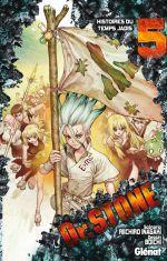 Dr Stone T5, manga chez Glénat de Inagaki, Boichi