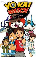 Yo-kai watch  T15, manga chez Kazé manga de Konishi, Level-5