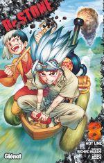 Dr Stone T8, manga chez Glénat de Inagaki, Boichi