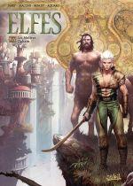 Elfes – cycle Les elfes sylvains, T27 : Les Maîtres Ogham (0), bd chez Soleil de Jarry, Maconi, Benoît, Aquaro