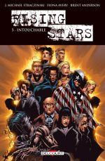Rising stars T5, comics chez Delcourt de Straczynski, Avery, Zanier, Frank, Anderson, Cha, Finch