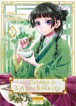 Les carnets de l'apothicaire  T1, manga chez Ki-oon de Hyûga, Nanao, Neko