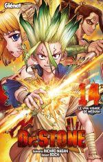 Dr Stone T14, manga chez Glénat de Inagaki, Boichi
