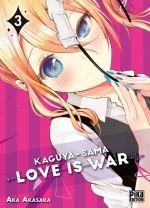 Kaguya-sama love is war T3, manga chez Pika de Akasaka