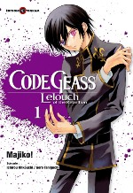 Code Geass - Lelouch of the Rebellion  T1, manga chez Tonkam de Taniguchi, Ohkouchi, Majiko !