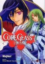 Code Geass - Lelouch of the Rebellion  T3, manga chez Tonkam de Taniguchi, Ohkouchi, Majiko !