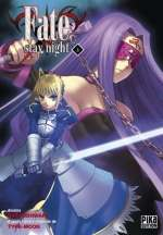 Fate stay night T3, manga chez Pika de Type-moon, Nishiwaki
