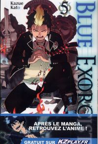 Blue exorcist T5, manga chez Kazé manga de Kato