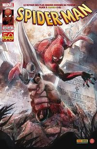 Spider-Man (revue) – V 2, T138 : Le chasseur chassé (0), comics chez Panini Comics de Wells, Kelly, Guggenheim, Dematteis, Gaudiano, Checchetto, Lark, Fiumara, Mayhew, Hollingsworth, d' Auria, Yu