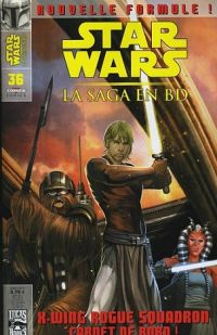 Star Wars (revue) – La saga en BD, T36 : X-Wing Rogue Squadron : carnet de bord ! (0), comics chez Delcourt de Taylor, Chestney, Windham, Pop , Sanchez, Scalf, David, Atiyeh, Carré