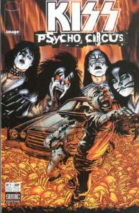 Kiss : Psycho circus T1, comics chez Semic de Holguin, Medina, Troy, Kemp, Haberlin, Golden