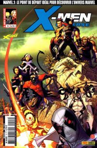 X-Men Universe – Revue V 1, T15 : La saga de l'ange noir (2/4) (0), comics chez Panini Comics de Gischler, Remender, Conrad, Brooks, Molina, Eaton, White, Reber, Guru efx, Kubert