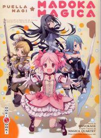 Puella Magi Madoka magica T1, manga chez Bamboo de Magica Quartet, Hanokage