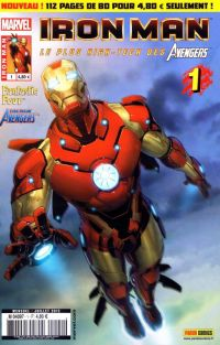 Iron Man (revue) – V 1, T1 : Démon (0), comics chez Panini Comics de Fraction, Hickman, Bendis, Deodato Jr, Di Giandomenico, Larroca, d' Armata, Mounts, Troy