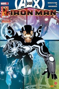 Iron Man (revue) – V 1, T6 : Au commencement... (0), comics chez Panini Comics de Fraction, Bendis, Hickman, Dragotta, Larroca, Choi, Deodato Jr, Garney, Keith, Peter, Sotomayor, Beredo, d' Armata