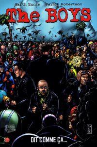 The Boys – édition Deluxe, T3 : Dit comme ça... (0), comics chez Panini Comics de Ennis, Robertson, Ezquerra, Burns, McCrea, Aviña
