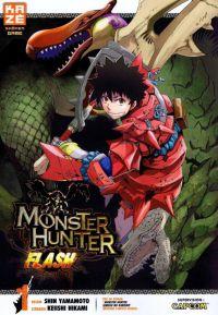 Monster hunter flash T1, manga chez Kazé manga de Yamamoto, Hikami