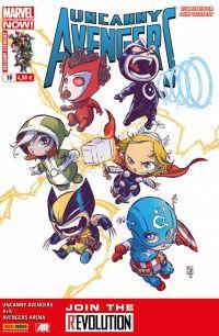 Uncanny Avengers (revue) – V 1, T3 : A+X (0), comics chez Panini Comics de Asmus, Remender, Hopeless, Aaron, Tan, Cassaday, Walker, Ferry, Charalampidis, Reber, Martin jr, Martin, Young