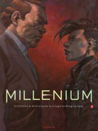 Millénium – cycle 2, T3, bd chez Dupuis de Runberg, Man, Vernay