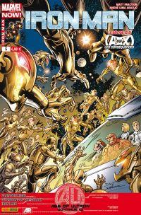 Iron Man (revue) – V 2, T5 : Le déicide (2/2) (0), comics chez Panini Comics de Fraction, Bendis, Gillen, Eaglesham, Pichelli, Bagley, Land, McNiven, Araujo, Villarubia, Ponsor, Guru efx, Mounts