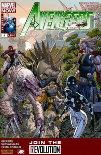 The Avengers (revue) – V 4, T6 : Evolution (0), comics chez Panini Comics de Hickman, Gillen, Spencer, Epting, Brown, Deodato Jr, Martin jr, Beredo, d' Armata, Weaver