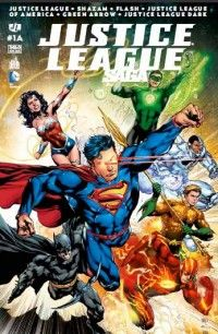 Justice League Saga T1, comics chez Urban Comics de Fawkes, Lemire, Johns, Buccellato, Janin, Van sciver, Frank, Finch, Sorrentino, Takara, Saiz, Cox, Anderson, Reis, Eyring, Hi-fi colour, Reis