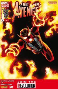 Uncanny Avengers (revue) – V 1, T8 : L'arnaque (0), comics chez Panini Comics de David, Remender, Costa, Hopeless, Walker, Camuncoli, Caselli, Acuña, Brown, Beaulieu, Mossa, Cassaday