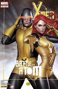 X-Men (revue) – V 4, T9 : La bataille de l'atome (1/2) (0), comics chez Panini Comics de Wood, Aaron, Bendis, Bachalo, Lopez, Camuncoli, Immonen, Cho, Gracia, Martin, Milla, Delgado, Granov, Adams