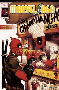 Marvel Saga – V 2, T2 : Deadpool massacre Deadpool (0), comics chez Panini Comics de Bunn, Hickman, Chamberlain, Espin, Gandini, Del Mundo