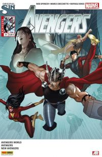 The Avengers (revue) – V 4, T21 : Révolution (0), comics chez Panini Comics de Spencer, Hickman, Yu, Alanguilan, Ienco, Checchetto, Schiti, Gho, Mossa, Mounts, Martin jr, Milla, Renaud