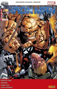 Iron Man (revue) T21 : La chute des Fantastiques (0), comics chez Panini Comics de Gillen, Robinson, Davis, Kirk, Ross, Walsh, Gandini, Wilson, Guru efx, Hollingsworth, Aburtov