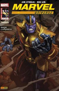 Marvel Universe – V 3, T10 : Thanos - Là-haut, un Dieu écoute (0), comics chez Panini Comics de Williams, Starlin, Coello, Diaz, Lim, Geoffo, Edwards, Mast, Mossa, Molinar, Staples, Keown