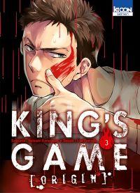 King's game origin T3, manga chez Ki-oon de Kanazawa, Yamada