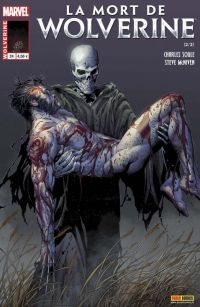 Wolverine (revue) – Revue V 4, T24 : La mort de Wolverine (2/2) (0), comics chez Panini Comics de Loveness, Fialkov, Soule, Leisten, McNiven, Mario, Ponsor, Curiel, Charalampidis