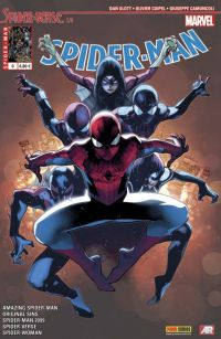 Spider-Man (revue) – V 5, T6 : Spider-Verse (1/4) (0), comics chez Panini Comics de Hopeless, David, Thompson, Slott, Land, Sliney, Coipel, Smith, Von Grawbadger, Medri, Leisten, Camuncoli, Francescutto, Fabela, Ponsor, d' Armata