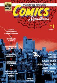 Comics Signatures T1, comics chez Neofelis éditions de Vignolles, Mornet, Lefeuvre, Le Troëdec, Stokman, Lapique, Depelley, Ditko, Andru, Kane, Romita Sr