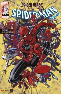 Spider-Man Universe T15 : Spider-Verse Team Up (0), comics chez Panini Comics de Immonem, Young, DeFalco, Frenz, Conway, Cook, Slott, Gage, Stern, McLeod, Palmer, Buscema, Lafuente, Anka, Grummet, Lopez, Templeton, Sanders, Williams, Vines, Parker, Rauch, Crossley, Breckel, Sotomayor, Bradshaw