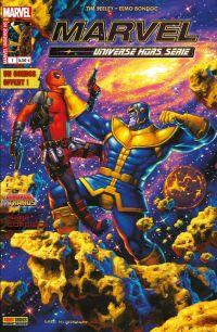Marvel Universe - Hors Série T1 : Jusqu'à ce que la Mort nous sépare (0), comics chez Panini Comics de Giffen, Seeley, Allred, Bondoc, Redmond, Kindzierski, Espin, Hildebrandt