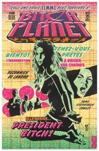 Bitch Planet T2 : President Bitch ! (0), comics chez Glénat de Deconnick, Soma, De Landro, Fitzpatrick
