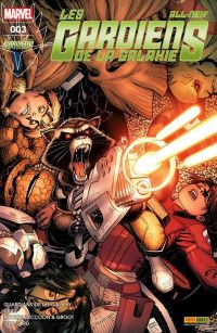 All-New Les Gardiens de la Galaxie T3 : Seigneur Rakzoon, comics chez Panini Comics de Bendis, Punk, Bunn, Young, Humphries, Hepburn, Andrade, Garron, Schiti, Fabela, Milla, Isanove, Beaulieu, Adams