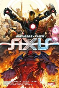 AXIS - Avengers & X-Men, comics chez Panini Comics de Hopeless, Maurer, Spears, Shinick, Bunn, Chaykin, Spurrier, Barbiere, Fawkes, Remender, Tieri, Barber, Davidson, Cheung, Lashley, Kubert, Greene, Lafuente, Lopez, Zayas, Huat, Yeung, Yu, Hernandez Walta, Gandini, Mogorron, Peralta, Acuña, Larraz, Dodson,