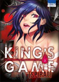 King's game spiral  T3, manga chez Ki-oon de Kanazawa, Kuriyama