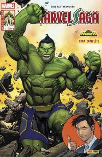 Marvel Saga T3 : Le carrément démentiel Hulk, comics chez Panini Comics de Pak, Cho, Oback