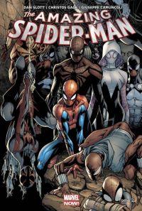 The Amazing Spider-Man T2 : Prélude à Spider-Verse, comics chez Panini Comics de Slott, Gage, Ramos, Camuncoli, Sepulveda, Kubert, Delgado, Beredo, Isanove, Fabela
