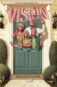 La Vision T1 : Un peu moins qu'un homme, comics chez Panini Comics de King, Hernandez Walta, Bellaire, Del Mundo